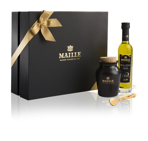 Maille Truffle and Cep Mushroom Mustard and Oil Gift Box Collection