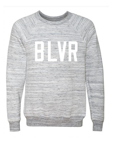Believer White Marble Sweatshirt