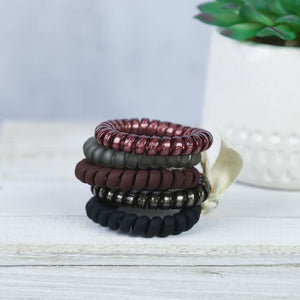Chocolate Covered Cherry Hair Coil Set