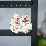 Floral Teardrop Earrings in Five Colors