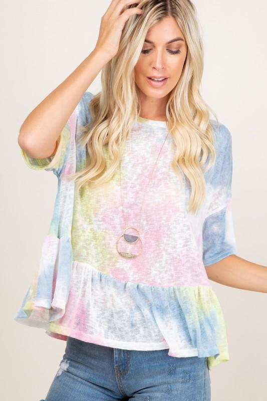 Carefree Beauty Tie Dye Top
