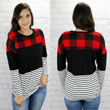 Free to Be Me Top in Plaid