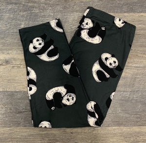 Playful Panda Capri Leggings