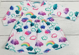 Watercolor Clouds 'n Rainbows Dress [NEW, Ready to Ship!]