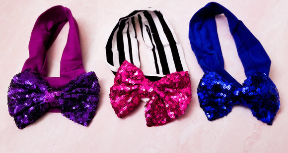 Assorted Infant/Toddler Sequin Bow Headbands