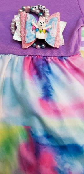ComfyCute - Pastel Watercolors Dress - Lavender (3/4 Sleeve)