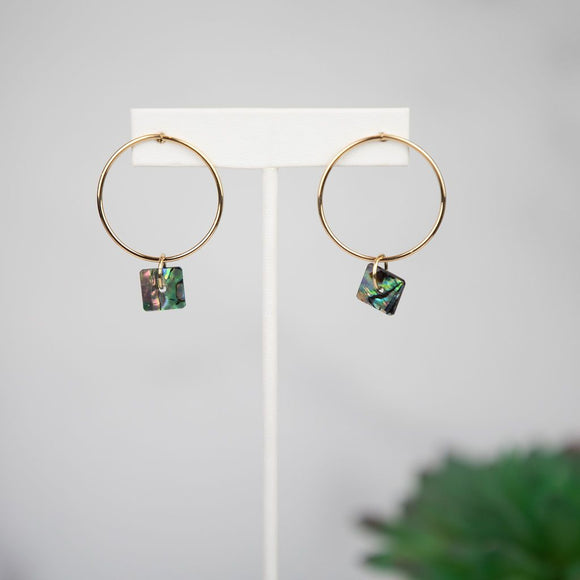 Anna Abalone Shell Dangle Earring