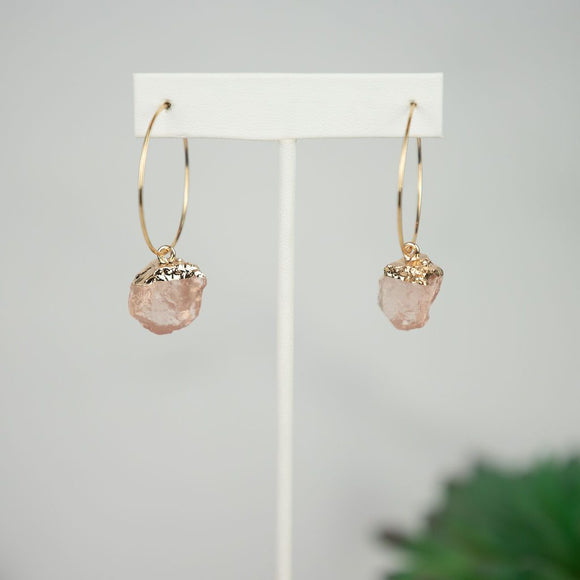 Mimi Rose Stone Dangle Earring