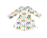 Rainbow Animal Friends Dress [NEW, Ready To Ship!]