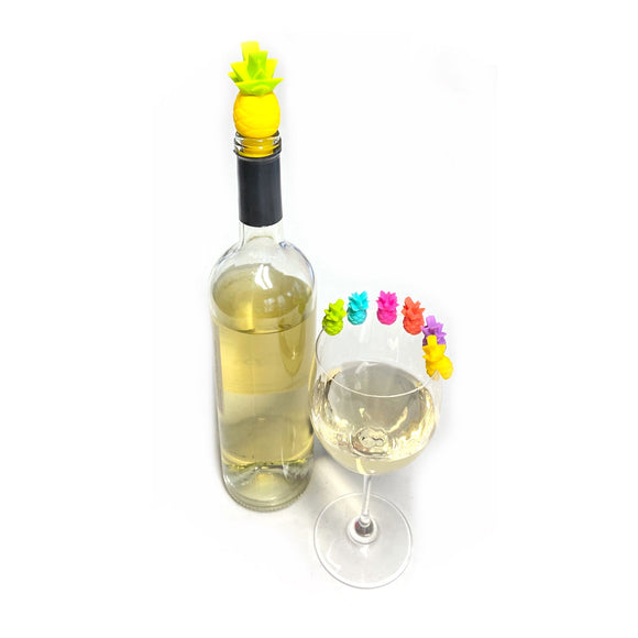 My Tropical Wine Stopper & Glass Marker Set