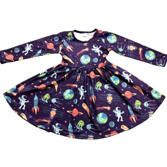 ComfyCute Twirl Dress - Spaceman and Friends