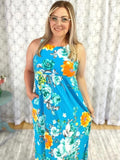 Shine in the Summer Dress in Turquoise