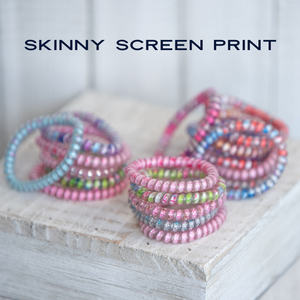 Skinny Screen Print Lauren Lane Hair Coils: Set of 5