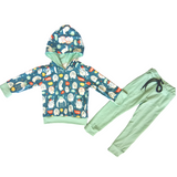 Mint Mini Monsters Loungewear Outfit