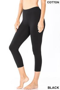 Lounging Around Capri Leggings in Black