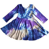 Tie Dye Dress - Moody Blues  [NEW!]