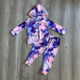 Pink & Purple Tie Dye Loungewear Set