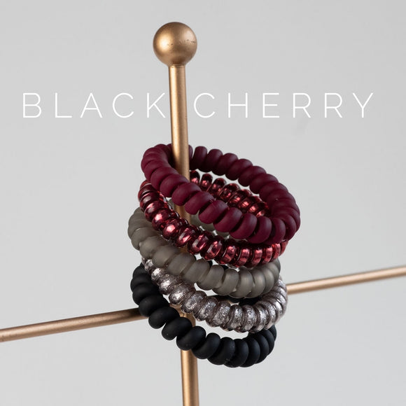 Black Cherry Large Lauren Lane Hair Coils