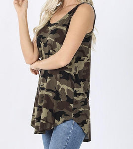 The Summer Camo Tank in Olive