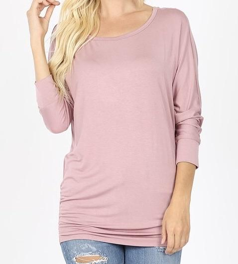 Stunning in Solid Boat Neck Tee