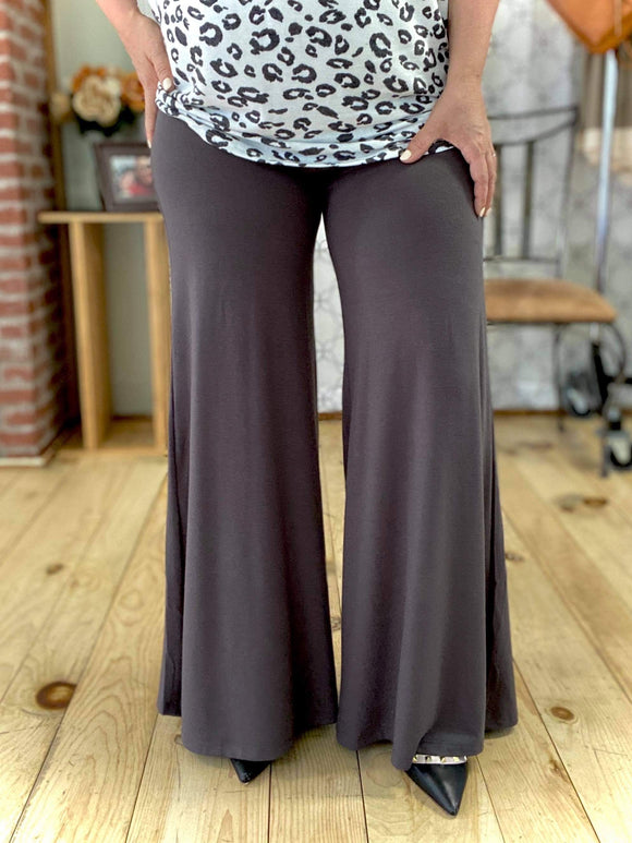 The Perfect Palazzo Pants in Ash Gray