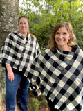 My Cozy & Cute Plaid Poncho