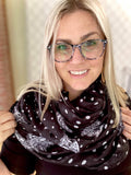 Polka Dot & Floral Infinity Scarf