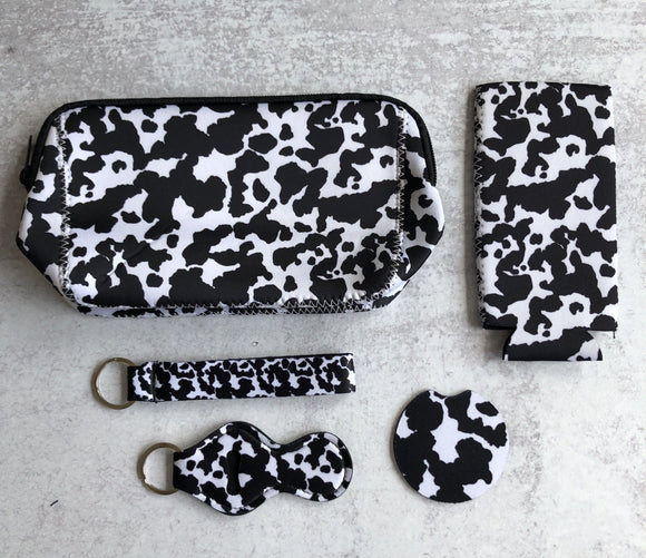 Printed Neoprene Collection: Cow Print