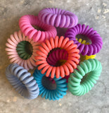 Medium Matte Bright Lauren Lane Hair Coils: Set of 5