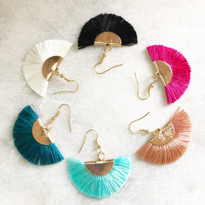 Meagan Fan Tassel Earrings