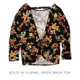 Bold in Floral Open Back Top