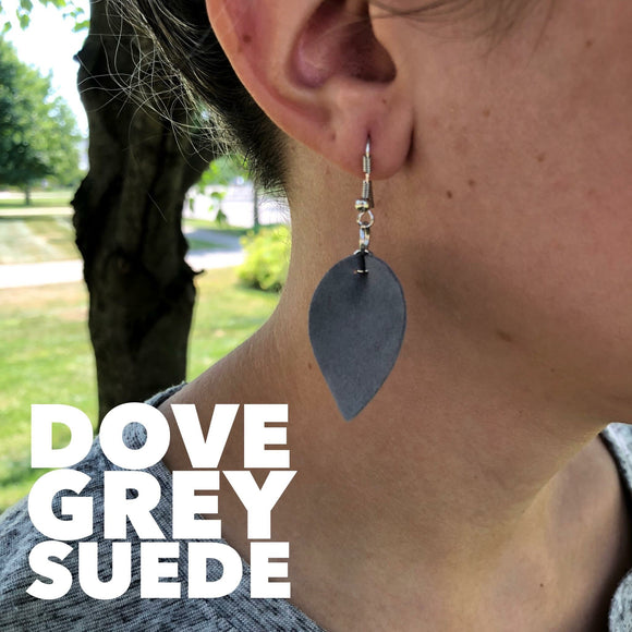 Dove Grey Sueded Dangles
