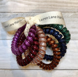 Lauren Lane Large Happy Glitter Hair Coils (set of 6)