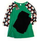 Santa's on His Way Raglan Tee