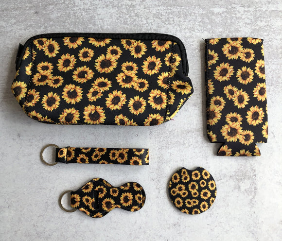 Printed Neoprene Collection: Sunflower