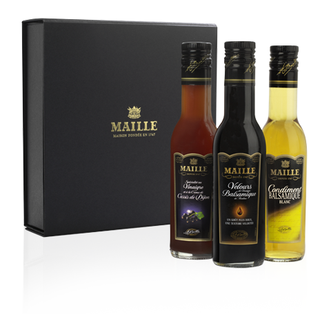 Maille Trio de vinaigres gourmands, 3 x 250ml