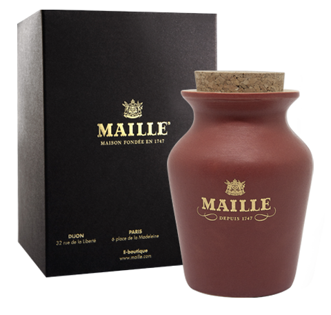 Maille Black Pepper and Whisky Terracotta with box view