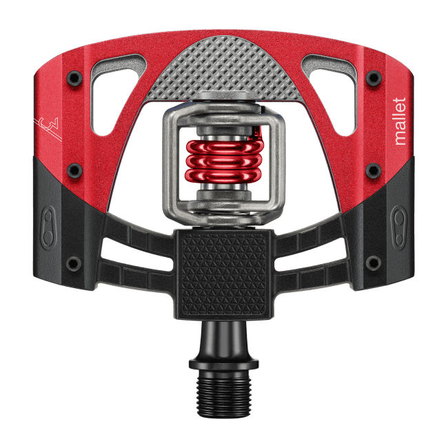 Pedal Crankbrothers Mallet 3 Preto/Vermelho Pedal Crank Brothers