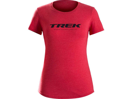 Camiseta Trek Waterloo Feminina Vermelha - P - Bike Village