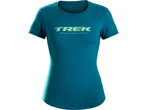 Camiseta Trek Waterloo Feminina  Azul Petróleo - P - Bike Village