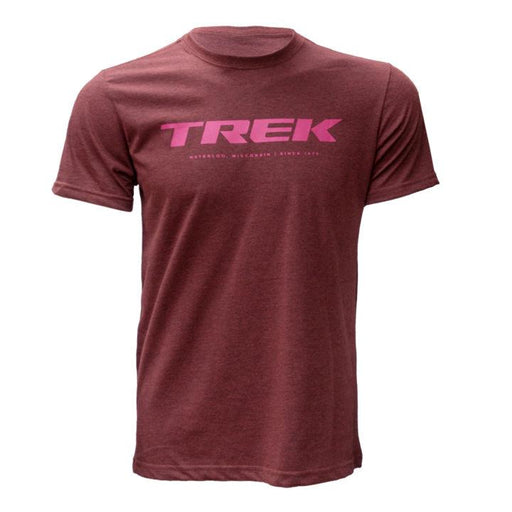 Camiseta Trek Logo T Vermelha/Rosa - Bike Village