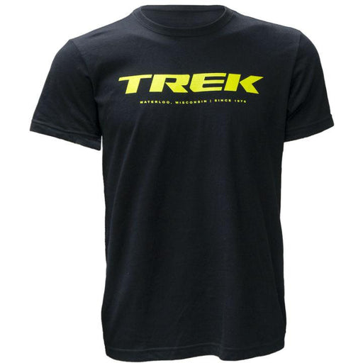 Camiseta Trek Logo T Preta/Lime - Bike Village