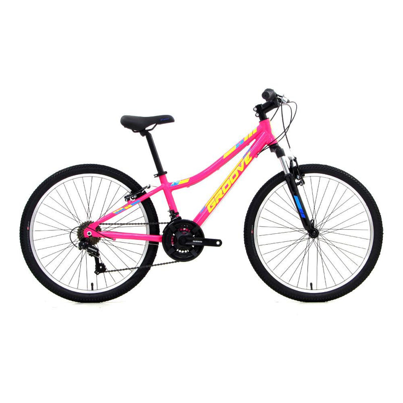 Bicicleta Infantil Groove Indie Alloy Aro 24 - Rosa Bicicleta Infantil Groove