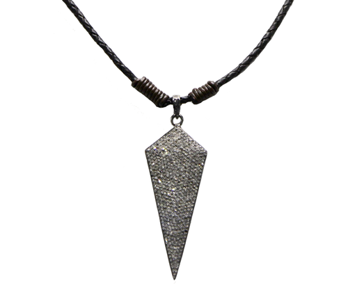 Bolo Necklace Diamond Arrow Pendant