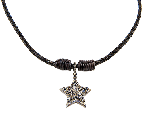 Bolo Necklace Diamond Starburst