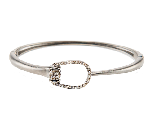 Diamond Horse Shoe Bangle