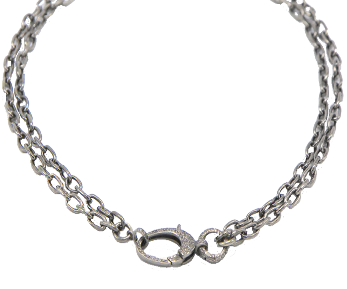 Double Sterling Silver Chain