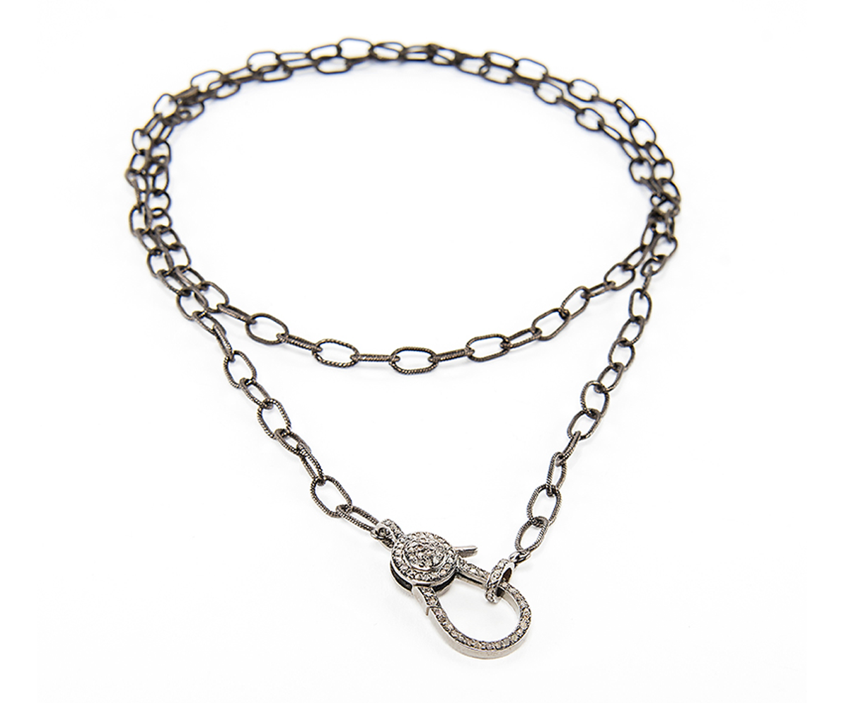 Long Chain With Diamond Clasp