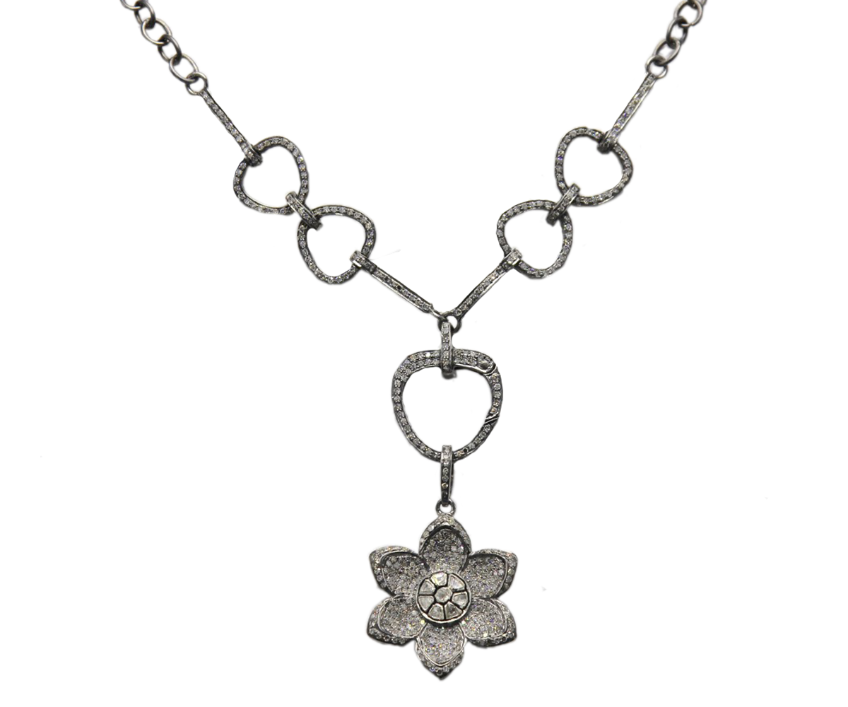 Pave Diamond Clasp Necklace