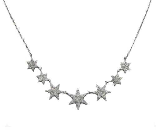 Pave Diamond Stars